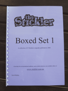 Stickler Boxed Set 1 -<br /> Bound