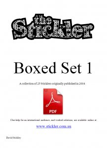 Stickler Boxed Set 1 -<br /> PDF for one